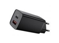 Incarcator Retea USB Baseus GaN2 Lite, Quick Charge, 1 X USB - 1 X USB Tip-C, Negru CCGAN2L-B01