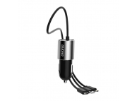 Incarcator Auto cu cablu MicroUSB - USB Type-C - Lightning Dudao R5ProN, 3.4 A, 3in1, 1 X USB, Negru