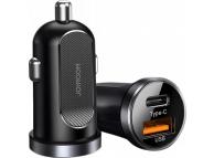 Incarcator Auto USB Joyroom C-A08, Quick Charge, 30 W, 1 X USB - 1 X USB Tip-C, Negru