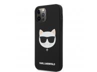 Husa TPU Karl Lagerfeld Choupette Head pentru Apple iPhone 12 / Apple iPhone 12 Pro, Neagra KLHCP12MSLCHBK