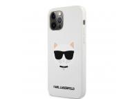 Husa TPU Karl Lagerfeld Choupette Head pentru Apple iPhone 12 Pro Max, Alba KLHCP12LSLCHWH