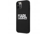 Husa TPU Karl Lagerfeld pentru Apple iPhone 12 Pro Max, Stack White Logo, Neagra KLHCP12LSLKLRBK