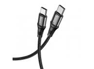 Cablu Date si Incarcare USB Type-C la USB Type-C HOCO Exquisito X50, 2 m, 100W, Negru