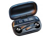 Handsfree Casti Bluetooth Lenovo QT81, SinglePoint, Afisaj LED, Negru