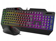 Kit Tastatura Mouse Wireless HAVIT KB852CM GameNote, Gaming, RGB, Negru