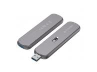 Rack Extern USB BlitzWolf pentru SSD M.2 B-Key SATA 3, USB, Argintiu BW-SSDE5