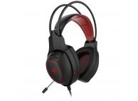 Casti Gaming HAVIT GAMENOTE H2239D, Cu microfon, 3.5 mm, Negre Rosii