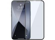 Folie Protectie Ecran Baseus pentru Apple iPhone 12 Pro Max, Sticla securizata, Full Face, Full Glue, Anti-Bluelight, Set 2buc, 0.3mm, Neagra SGAPIPH67N- KB01