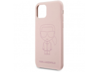 Husa TPU Karl Lagerfeld pentru Apple iPhone 11, Iconic Outline Tone on Tone, Roz KLHCN61SILTTPI