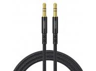 Cablu Audio 3.5 mm la 3.5 mm Joyroom SY-10A1, TRS - TRS, 1 m, Negru