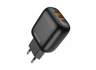 Incarcator Retea USB JELLICO C33, 2.4A, 2 X USB, Negru