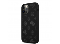 Husa Plastic - TPU Guess Tone on Tone Peony pentru Apple iPhone 12 / Apple iPhone 12 Pro, Neagra GUHCP12MLSPEBK