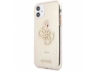 Husa Piele Guess Big 4G Full Glitter pentru Apple iPhone 11, Aurie GUHCN61PCUGL4GGO