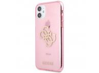 Husa Piele Guess Big 4G Full Glitter pentru Apple iPhone 11, Roz GUHCN61PCUGL4GPI