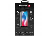 Folie Protectie Ecran Swissten pentru Apple iPhone X / Apple iPhone XS, Sticla securizata, Full Face, Full Glue, 0.2mm, 3D, 9H, Neagra