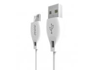 Cablu Date si Incarcare USB la MicroUSB Dudao L4M, 1 m, 2.4A, Alb