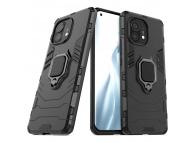 Husa Plastic - TPU OEM Ring Tough Armor Kickstand pentru Xiaomi Mi 11, Neagra