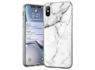 Husa TPU WZK Marble MP pentru Samsung Galaxy A32 LTE A325, Alba