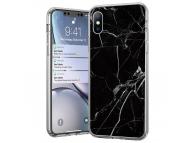 Husa TPU WZK Marble MP pentru Samsung Galaxy A72 4G, Neagra