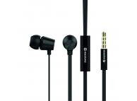 Handsfree Casti EarBuds Swissten Dynamic YS500, Cu microfon, 3.5 mm, Negru