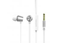 Handsfree Casti EarBuds Swissten Dynamic YS500, Cu microfon, 3.5 mm, Alb