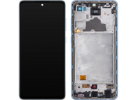 Display - Touchscreen Samsung Galaxy A72 4G, Cu Rama, Albastru GH82-25460B