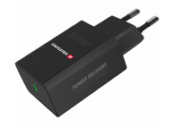 Incarcator Retea USB Swissten, Quick Charge, 25W, 1 X USB Tip-C, Negru