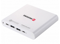 Incarcator Retea Statie USB Swissten, Quick Charge, 87W, 2 X USB - 2 x USB Tip-C, Alb