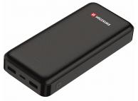 Baterie Externa Powerbank Swissten Worx, 20000 mA, 2 X USB, Standard Charge (5V), Neagra