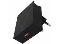 Incarcator Retea USB Swissten, Suport Device, Quick Charge, 20W, 1 X USB Tip-C, Negru