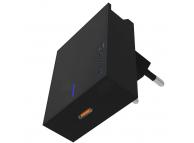 Incarcator Retea USB Swissten, Suport Device, Quick Charge, 45W, 1 X USB Tip-C, Negru