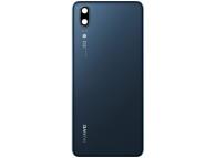 Capac Baterie - Geam Camera Spate Huawei P20, Albastru 02351WKU