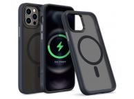 Husa Plastic - TPU Spigen Cyrill Color Brick pentru Apple iPhone 12 / Apple iPhone 12 Pro, MagSafe, Gri Transparenta ACS02499