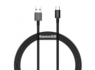 Cablu Date si Incarcare USB la USB Type-C Baseus Superior, 2 m, 66W, Negru CATYS-A01