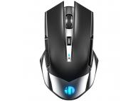 Mouse Wireless Inphic M606, RGB, Negru Argintiu
