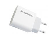 Incarcator Retea cu cablu Lightning WZK, Quick Charge, 20W, 1m, 1 x USB Type-C, Alb