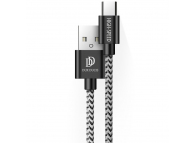 Cablu Date si Incarcare USB la USB Type-C DUX DUCIS K-ONE Series, 0.25 m / 1m / 2m, 2A , Set 3 Bucati, Negru