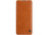 Husa Piele Nillkin Qin Book pentru OnePlus 9 Pro, Maro