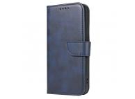Husa Piele OEM Leather Flip Magnet pentru Samsung Galaxy A02s A025F, Bleumarin