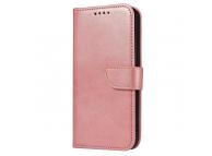 Husa Piele OEM Leather Flip Magnet pentru Samsung Galaxy A12 A125, Roz