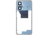 Carcasa Mijloc Xiaomi Redmi Note 10 Pro, Albastra
