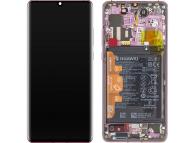 Display - Touchscreen Huawei P30 Pro, Cu Rama, Acumulator si Piese, Mov 02353DGM