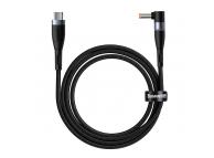Cablu Date si Incarcare USB Type-C la Jack 5.5 x 2.5 mm Baseus Zinc Magnetic Series, 2 m, 100W, Negru CATXC-X01