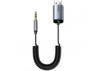 Receptor Bluetooth Usams US-SJ504, Bluetooth 5.0, AUX, 1.4 m, Gri SJ504JSQ01