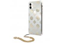 Husa Plastic - TPU Guess Chain Peony pentru Apple iPhone 11, Aurie GUHCN61KSPEGO