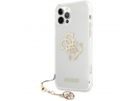 Husa Plastic - TPU Guess Big 4G Logo Gold pentru Apple iPhone 12 Pro Max, Transparenta GUHCP12LKS4GGO