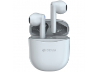 Handsfree Casti Bluetooth DEVIA Joy A10, SinglePoint, TWS, Alb