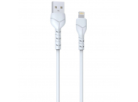 Cablu Date si Incarcare USB la Lightning DEVIA Kintone, 1 m, 2.1A, Set 30 buc, Alb