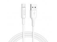 Cablu USB - USB Type-C Hoco Soarer X25, 1m, Alb, Resigilat