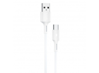 Cablu Date si Incarcare USB la USB Type-C WK-Design YouPin, 1 m, 3A, Alb WDC-136a